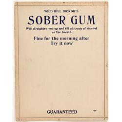Wild Bill Hickok's Sober Gum Advertisement