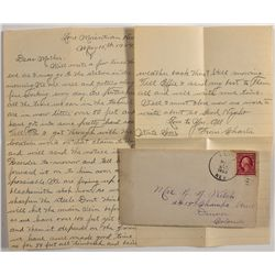 Elko cover with a Mining Letter Written from Lone Mountain