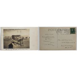 "RPPC of a ""Good Christmas Dinner"" at Fairview, Nevada"