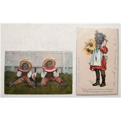 Two Post Cards with Black Children