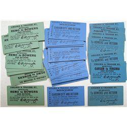 37 V&T Railway Tickets