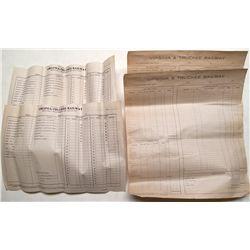 4 V&T Ledger Sheets