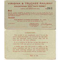 Virginia and Truckee Railway Pass