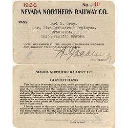 Northern Nevada Railway 1926 Pass