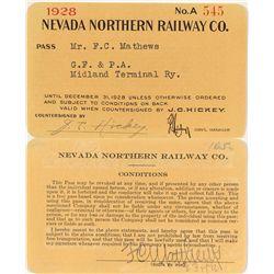 Northern Nevada Railway 1928 Pass