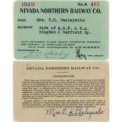 Northern Nevada Railway 1929 Pass