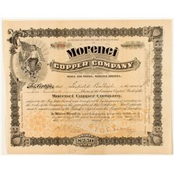 Morenci Copper Company Stock Certificate  1900