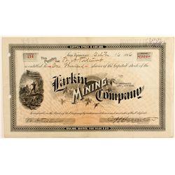 Larkin Mining Company Stock Certificate