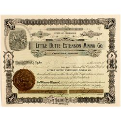Little Butte Extension Mining Co. Stock Certificate