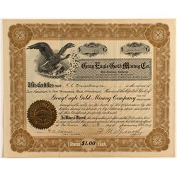Gray Eagle Gold Mining Co. Stock Certificate