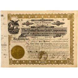 United States Gold Corporation Stock Certificate