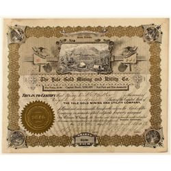The Yale Gold Mining and Utility Co. Stock Certificate