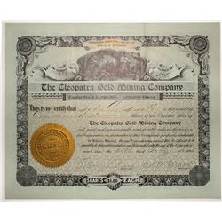 The Cleopatra Gold Mining Co. Stock Certificate 1905