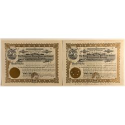 The Georgetown Mining, Power and Tunnel Transportation Company stock certificate