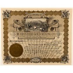 The Frontier Gold Mining Company Stock Certificate 1904