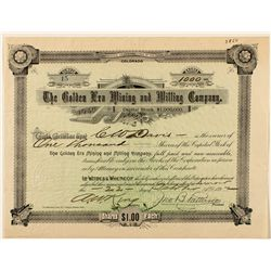 The Golden Era Mining & Milling Co. Stock Certificate 1892
