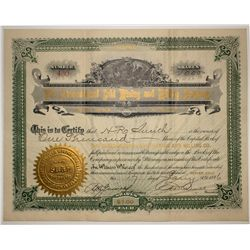 The International Gold Mining & Milling Co. Stock Certificate