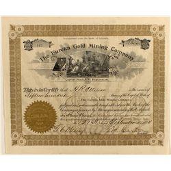Eureka Gold Mining Company Stock Certificate