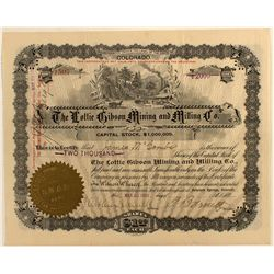 Lottie Gibson Mining and Milling Co. Stock Certificate