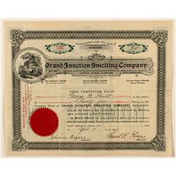 Grand Junction Smelting Company Stock Certificate
