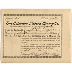 The Columbia-Albera Mining Co. Stock 1898