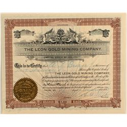 Leon Gold Mining Company Stock Certificate