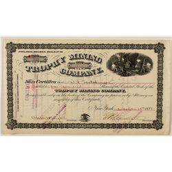 Trophy Mining Company Stock Certificate 1880