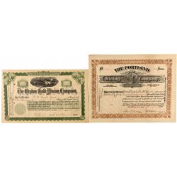 Two Cripple Creek Mining Stock Certificates, 1900, 1914