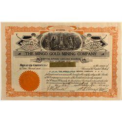 Mingo Gold Mining Company, Colorado Stock Certificate