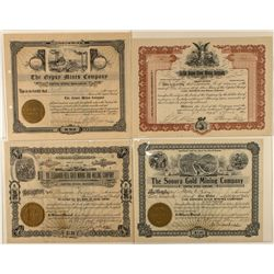 Four Different Colorado Mining Certificates