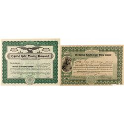 Two Colorado Mineral Related Stock Certificates