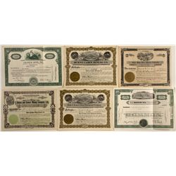 Group of 6 Coeur d'Alene Mining Stock Certificates