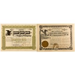 Two Seven Devils Copper Mining Stock Certificates