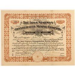 The Iron Springs Cons. Mining Company Stock