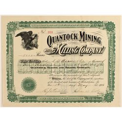 Quantock Mining and Milling Company Stock Certificate