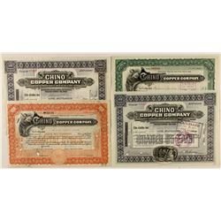 Variety of Chino Copper Co. Stocks 1911-1917 (4)