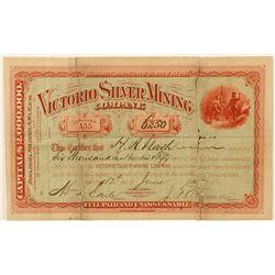 Victorio Silver Mining Company Stock Certificate