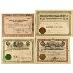 Group of 4 Grant County, N.M. Mining Stocks