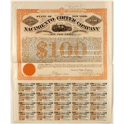Nacimiento Copper Company $100 Gold Bond