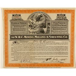 The W.R.C. Mining, Milling & Smelting Co. Stock Certificate