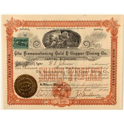 The Sinnamahoning Gold & Copper Mining Co. Stock Certificate