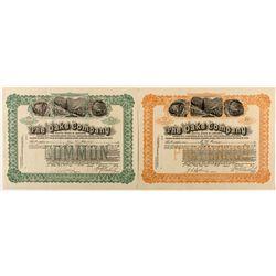 The Oaks Company, Common & Preferred Stock Certificate