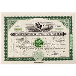 Wells Fargo Bank & Union Trust Co. Stock Cert.