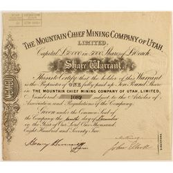 Mountain Chief Mining Co. of Utah, Ltd. 1872