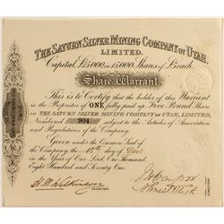 The Saturn Silver Mining Co. of Utah, Ltd.