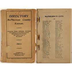 McPherson County, Kansas Directory, 1905-6