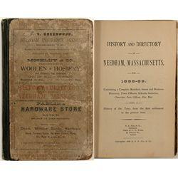 History & Directory of Needham, Mass., 1888-89 (green)