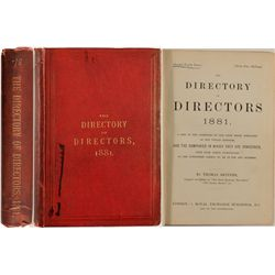 The Directory of Directors-A List of the Directors of Joint Stock Companies of the United Kingdom, 1