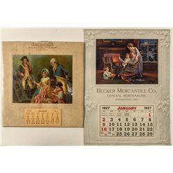 Two Patriotic Arizona Calendars