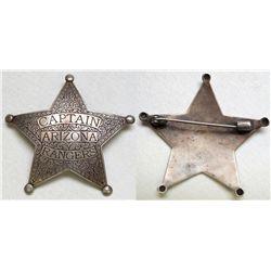 Arizona Rangers Badge, Replica